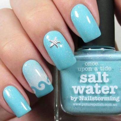 40 Beach Themed Nail Art for Summer Ideas 14