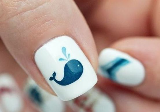 40 Beach Themed Nail Art for Summer Ideas 24