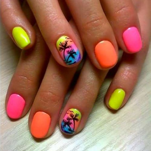 40 Beach Themed Nail Art for Summer Ideas 25