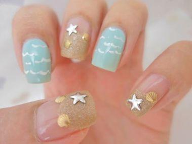 40 Beach Themed Nail Art for Summer Ideas 27