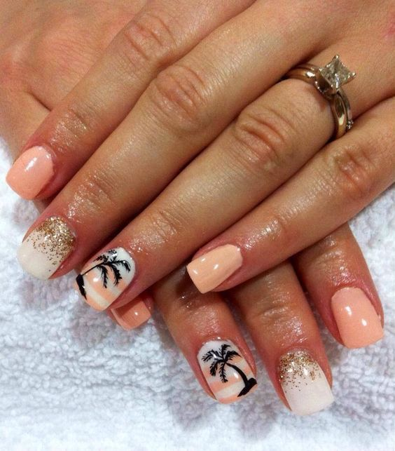 40 Beach Themed Nail Art for Summer Ideas 29