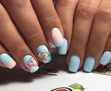 40 Beach Themed Nail Art for Summer Ideas 42