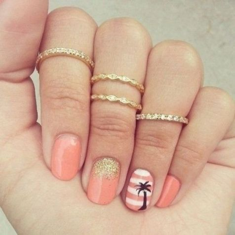 40 Beach Themed Nail Art for Summer Ideas 6