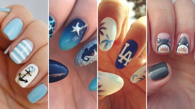 40 Beach Themed Nail Art for Summer Ideas