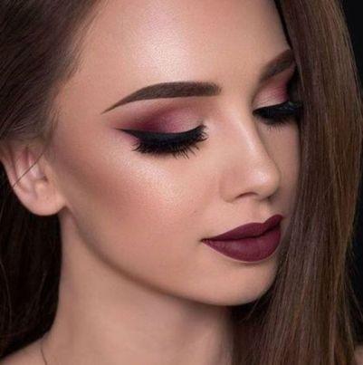 40 Burgundy Makeup Look Ideas 10