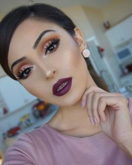 40 Burgundy Makeup Look Ideas 18