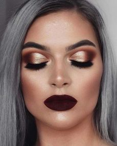 40 Burgundy Makeup Look Ideas 26