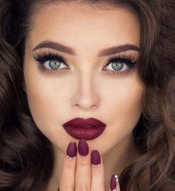 40 Burgundy Makeup Look Ideas 3