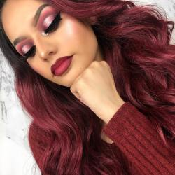 40 Burgundy Makeup Look Ideas 31