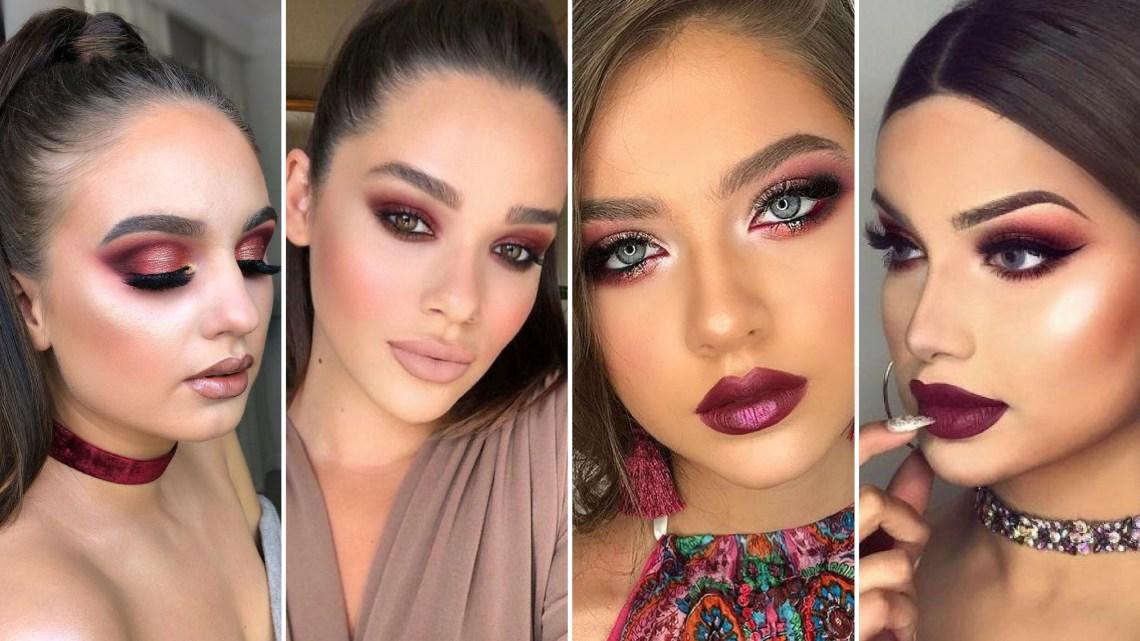 40 Burgundy Makeup Look Ideas