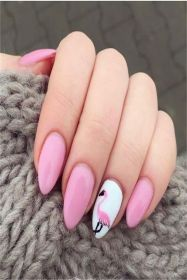 40 Cute Flamingo Themed Nail Art Ideas 10