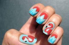 40 Cute Flamingo Themed Nail Art Ideas 24