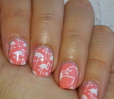 40 Cute Flamingo Themed Nail Art Ideas 30