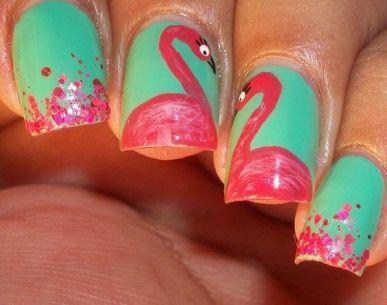 40 Cute Flamingo Themed Nail Art Ideas 31