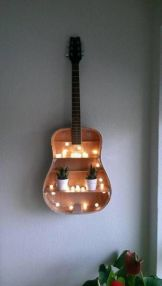 40 DIY Repurpose Old Guitars Ideas 10