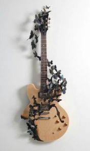 40 DIY Repurpose Old Guitars Ideas 14
