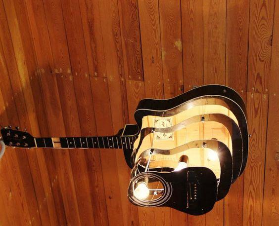 40 DIY Repurpose Old Guitars Ideas 17