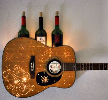 40 DIY Repurpose Old Guitars Ideas 27