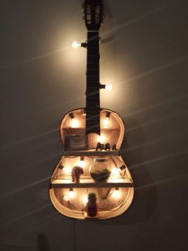 40 DIY Repurpose Old Guitars Ideas 37