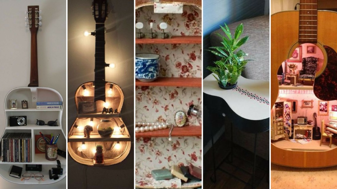 40 DIY Repurpose Old Guitars Ideas