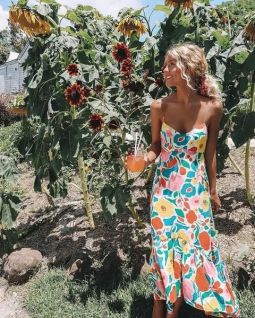 40 Fashionable Floral Print Dresses for Summer Ideas 23
