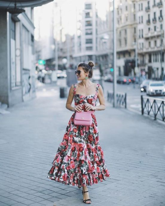 40 Fashionable Floral Print Dresses for Summer Ideas 35