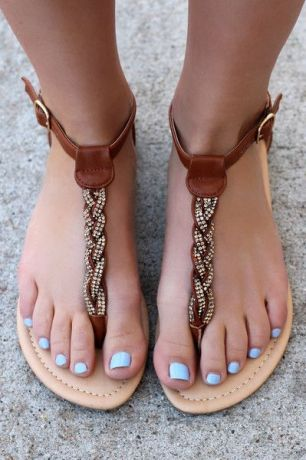 40 Glam Flat Sandals for Summer Ideas 28