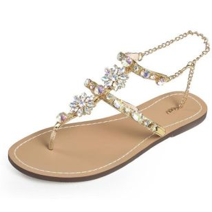 40 Glam Flat Sandals for Summer Ideas 9
