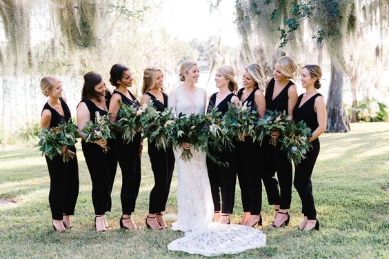 40 Jumpsuits Look for Bridemaids Ideas 29