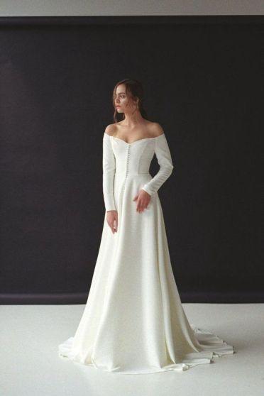 40 Off the Shoulder Wedding Dresses Ideas 2