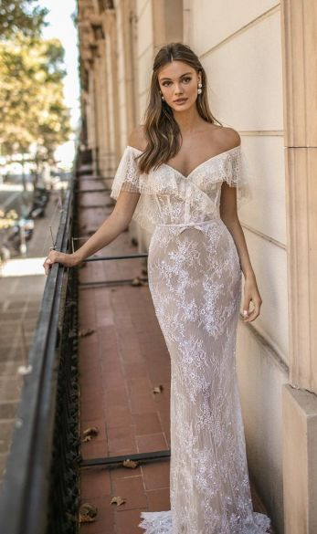 40 Off the Shoulder Wedding Dresses Ideas 21