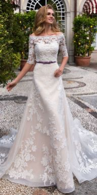 40 Off the Shoulder Wedding Dresses Ideas 22