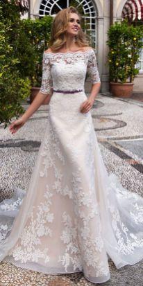 40 Off the Shoulder Wedding Dresses Ideas 22