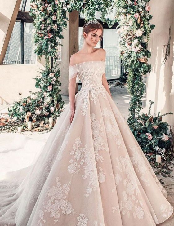 40 Off the Shoulder Wedding Dresses Ideas 29