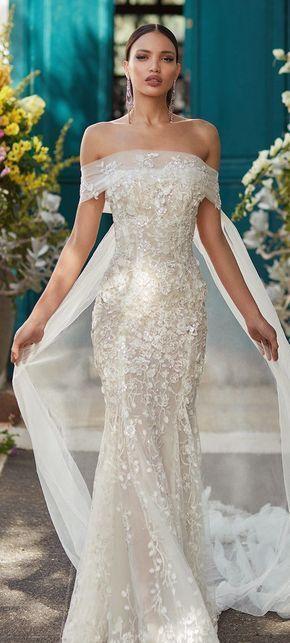 40 Off the Shoulder Wedding Dresses Ideas 38