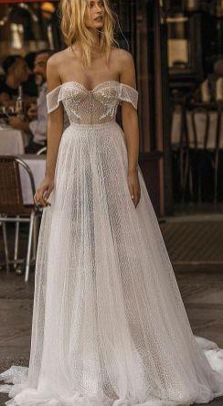 40 Off the Shoulder Wedding Dresses Ideas 4