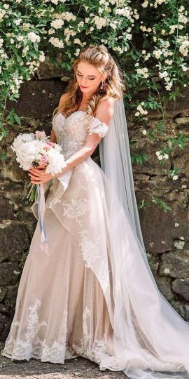 40 Off the Shoulder Wedding Dresses Ideas 42