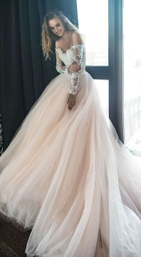40 Off the Shoulder Wedding Dresses Ideas 46