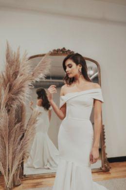40 Off the Shoulder Wedding Dresses Ideas 5