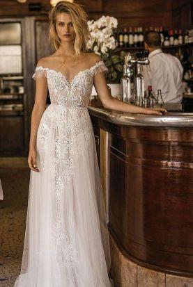 40 Off the Shoulder Wedding Dresses Ideas 6