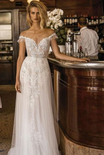 40 Off the Shoulder Wedding Dresses Ideas 6