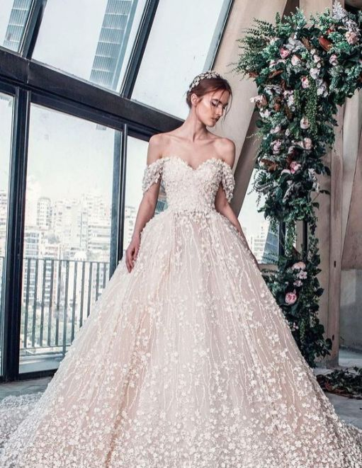 40 Off the Shoulder Wedding Dresses Ideas 8