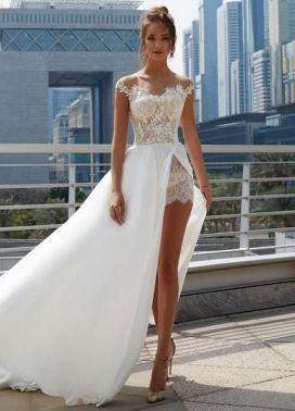 40 Off the Shoulder Wedding Dresses Ideas 9