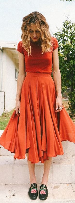 40 Stylish Orange Outfits Ideas 12