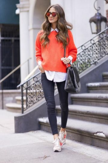 40 Stylish Orange Outfits Ideas 18