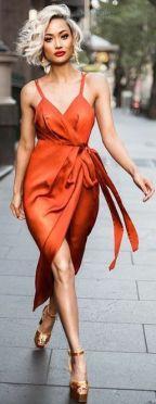 40 Stylish Orange Outfits Ideas 43