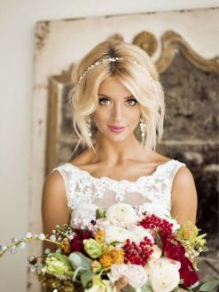 40 Wedding Hairstyles for Blonde Brides Ideas 30