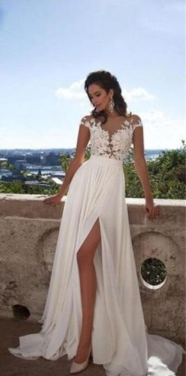 50 Bridal Dresses with Perfect Split Ideas 14 1