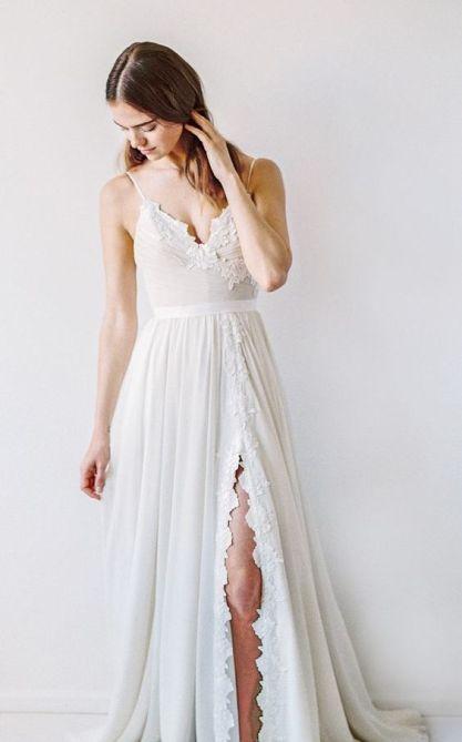 50 Bridal Dresses with Perfect Split Ideas 2