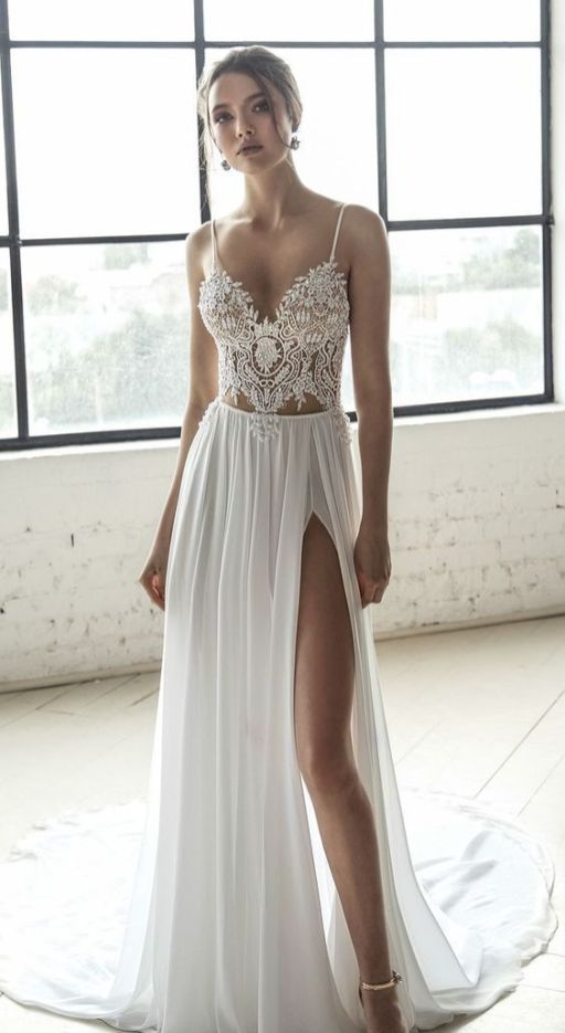 50 Bridal Dresses with Perfect Split Ideas 22
